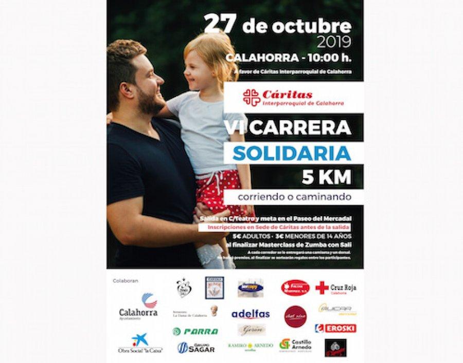 CALAHORRA cartel carrera Cáritas 2019