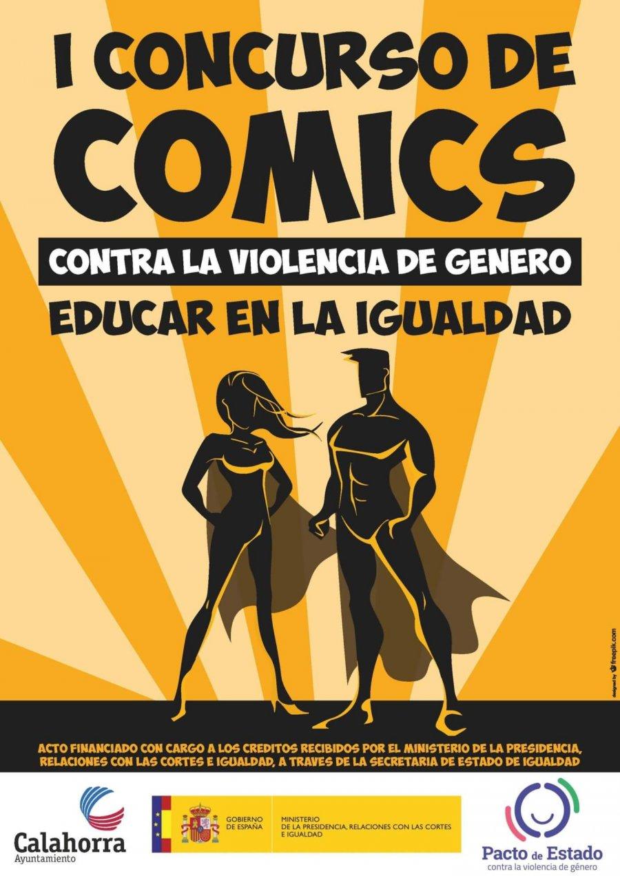 CALAHORRA cartel concurso comics violencia genero