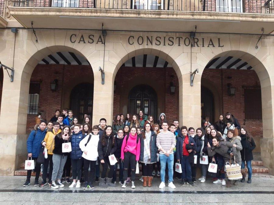 CALAHORRA visita alumnos franceses IES Quinti 1
