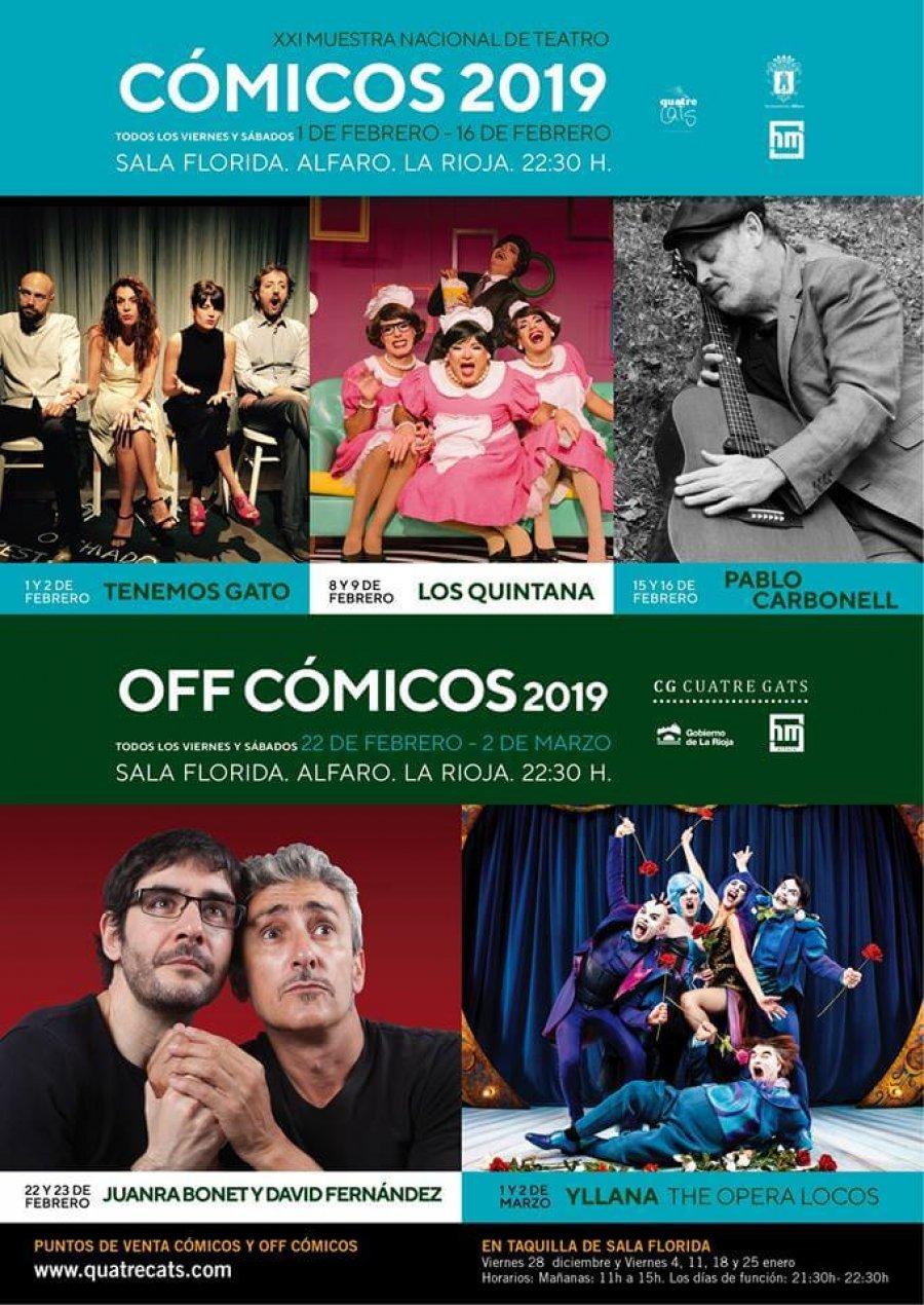 CARTEL Cómicos 2019 Alfaro
