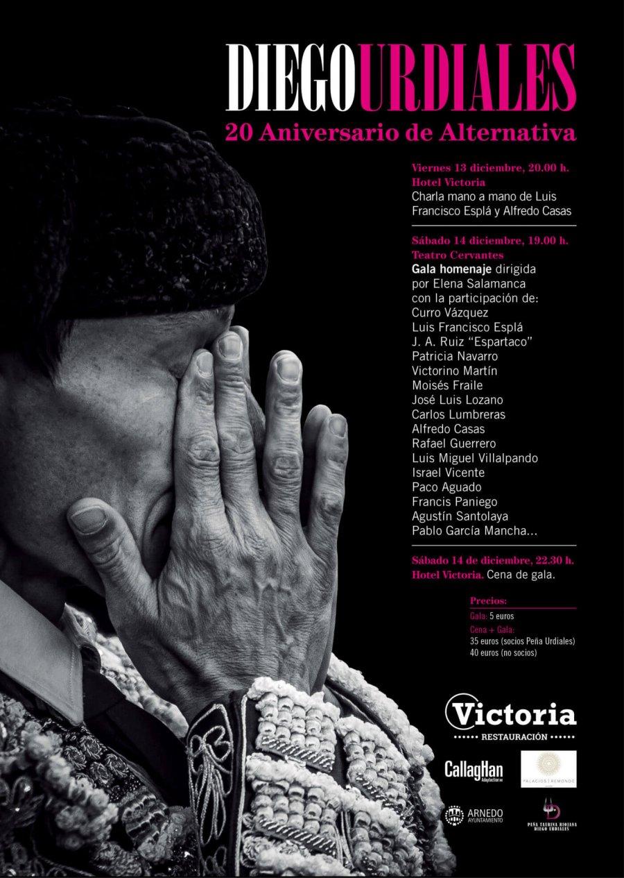 CARTEL gala 20 aniversario Diego Urdiales