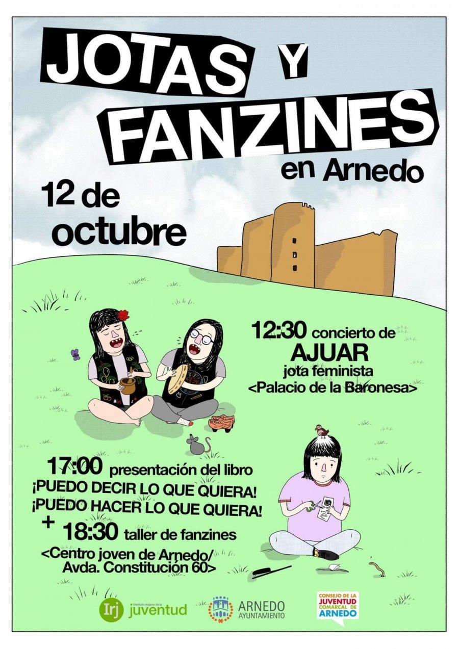 CARTEL jotas y fanzines 12 octubre
