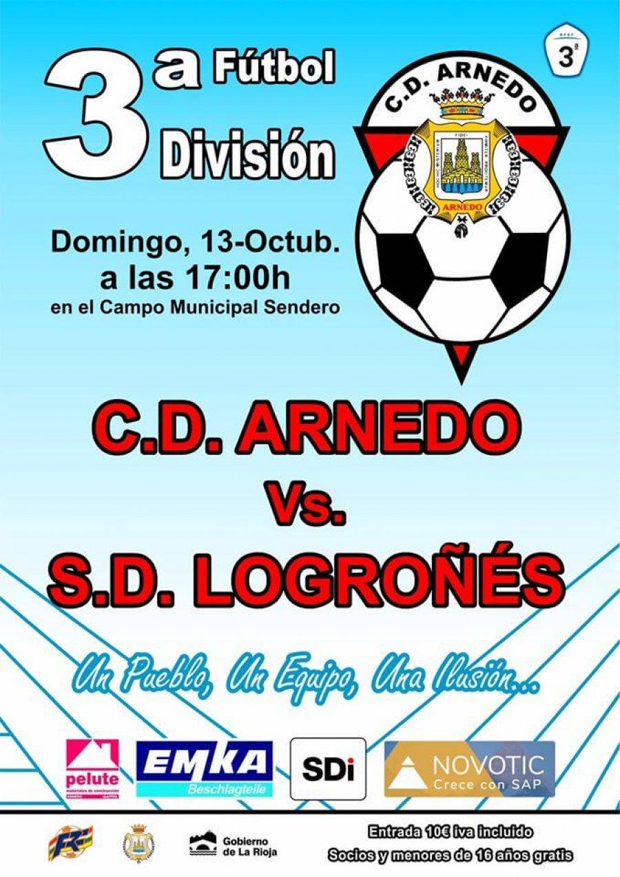 CD ARNEDO cartel partido 13 octubre