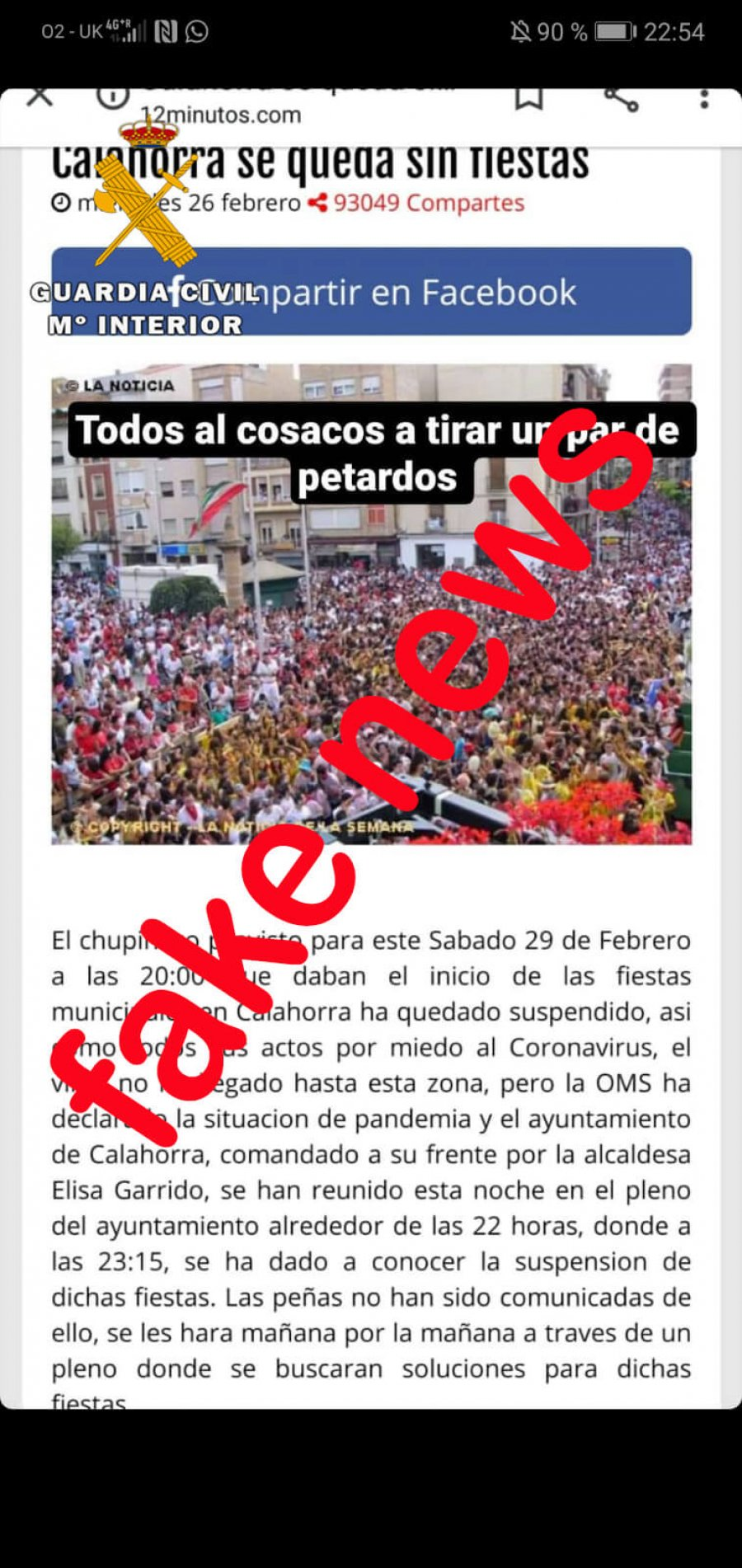 CALAHORRA fake news chupinazo