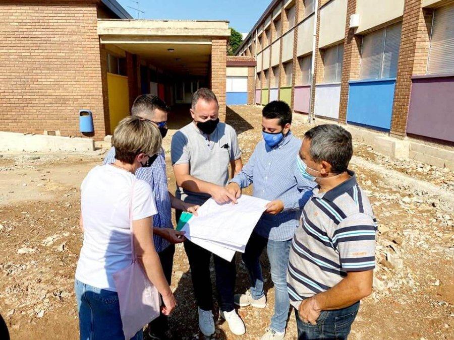 COLEGIO A DELGADO visita obras patio julio 2021