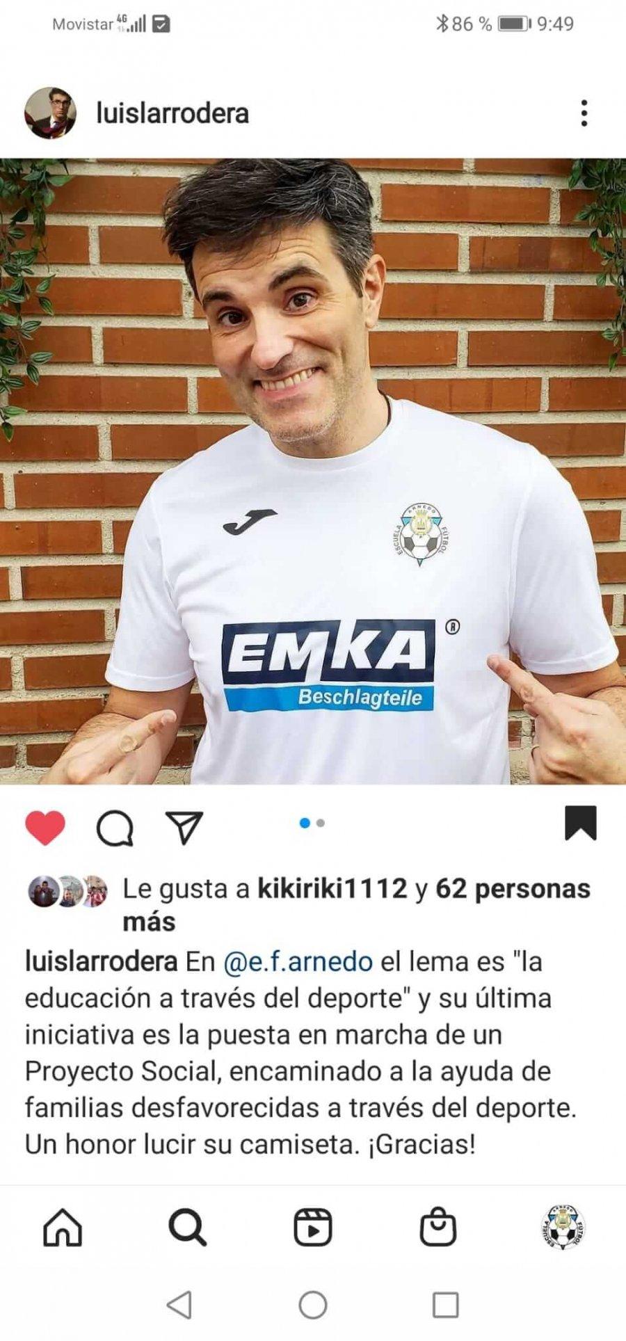 ESCUELA FUTBOL ARNEDO Luis Larrodera