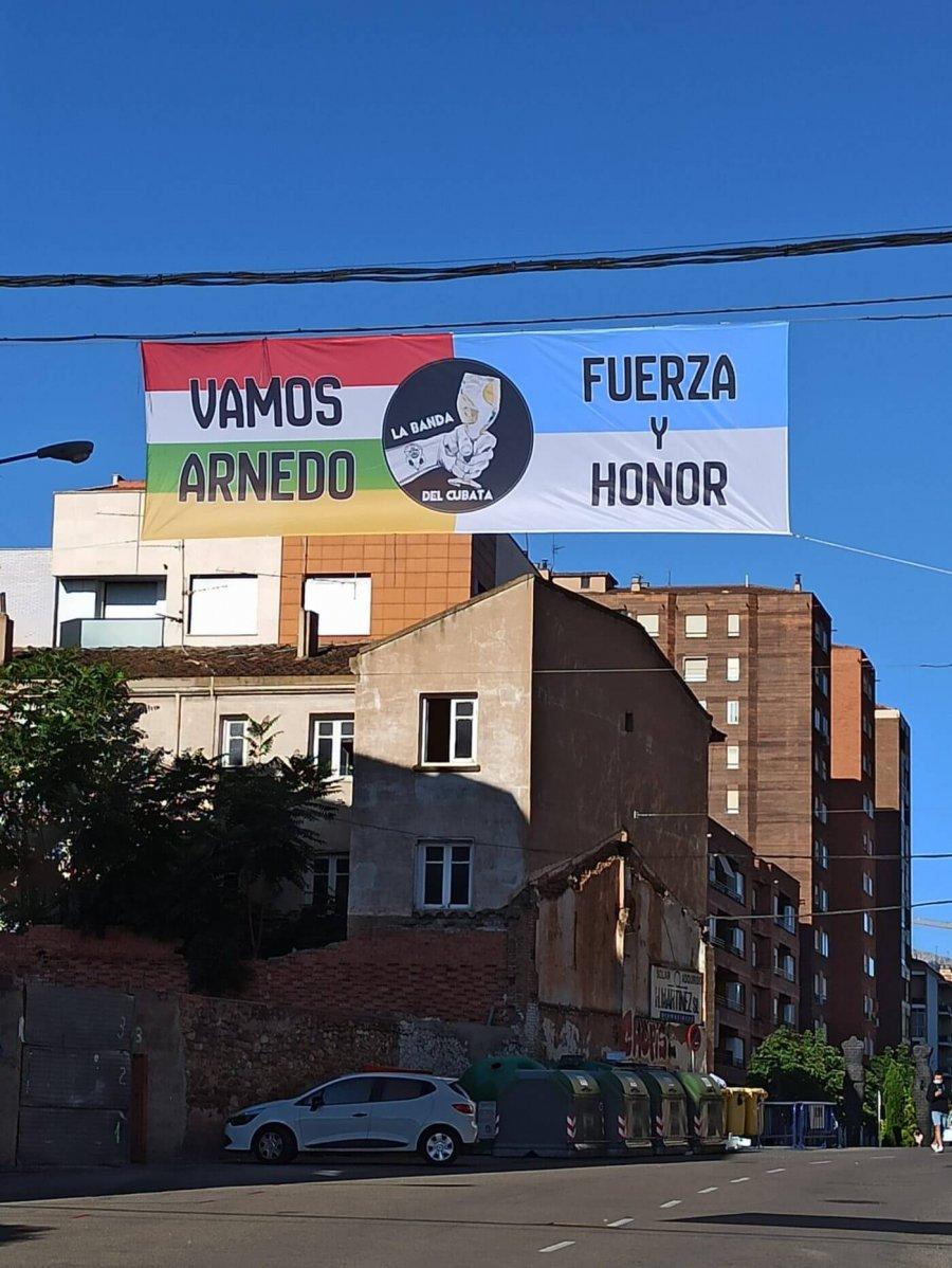 CD ARNEDO pancarta apoyo play off