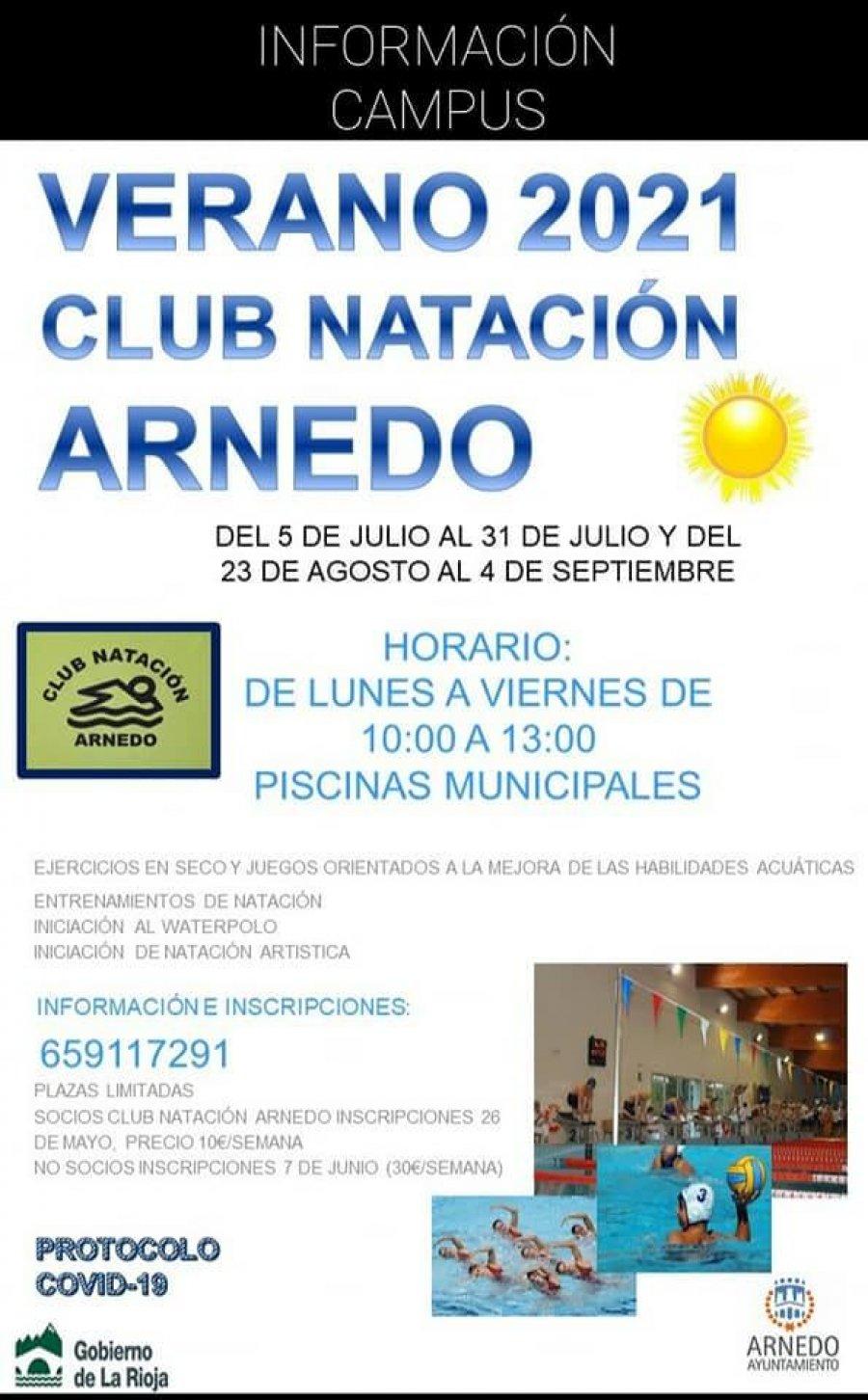 CLUB NATACIÓN campus verano cartel ok