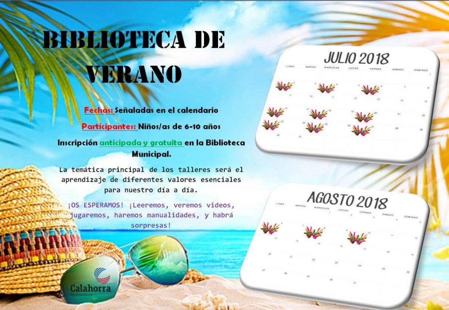 CARTEL TALLER VERANO BIBLIOTECA CALAHORRA