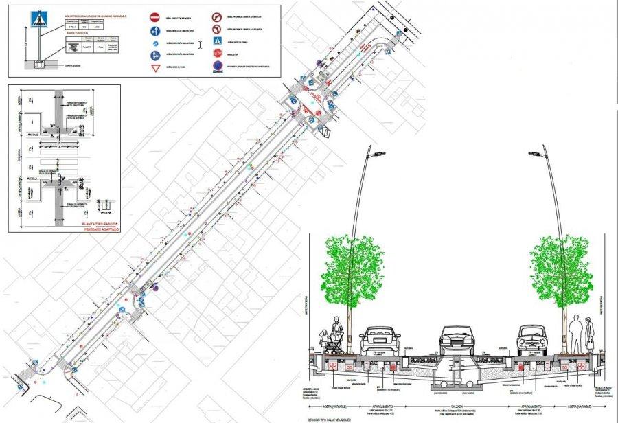 CALAHORRA calle Velázquez plano obras