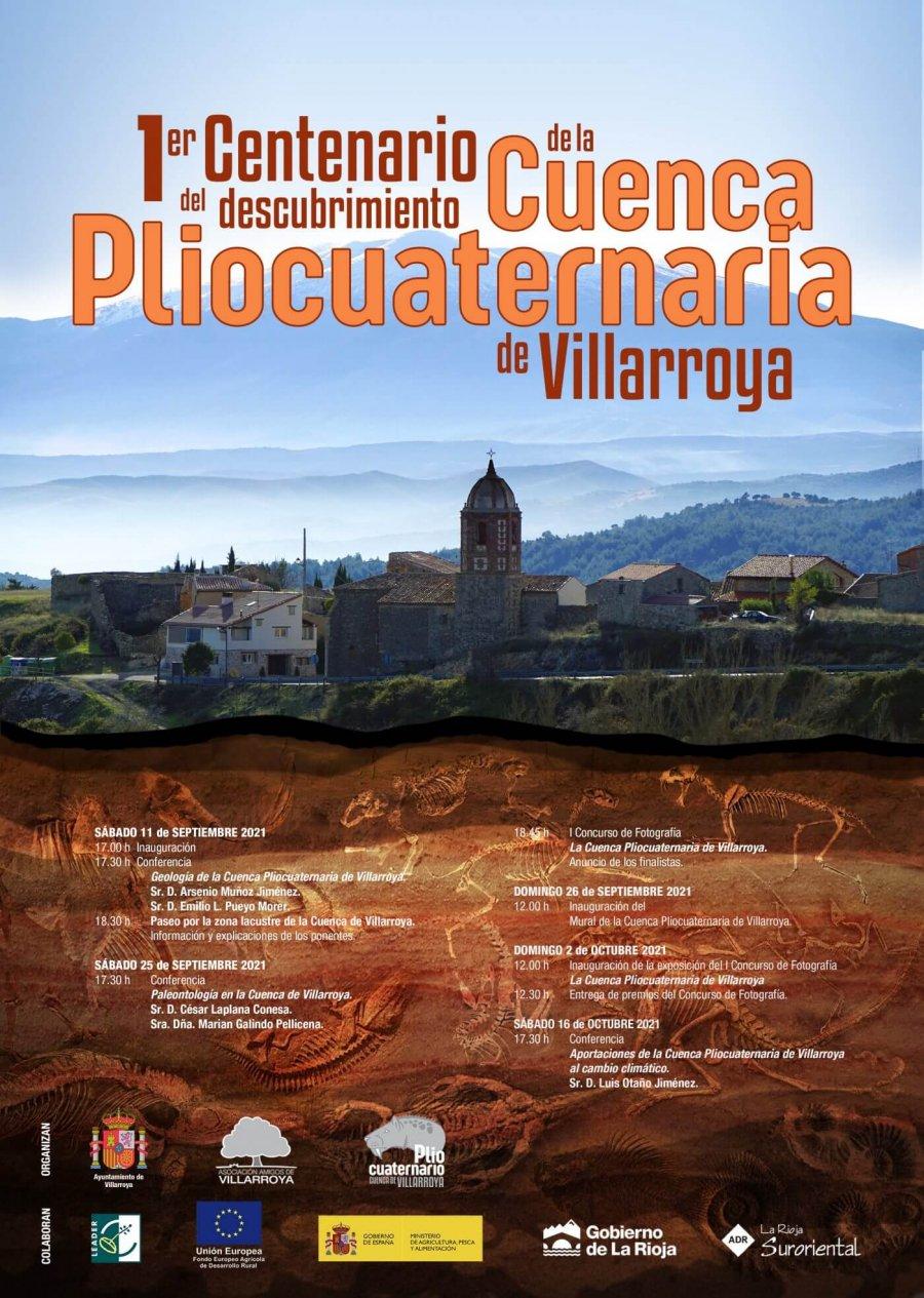 VILLARROYA cartel centenario cuenca pliocuaternaria