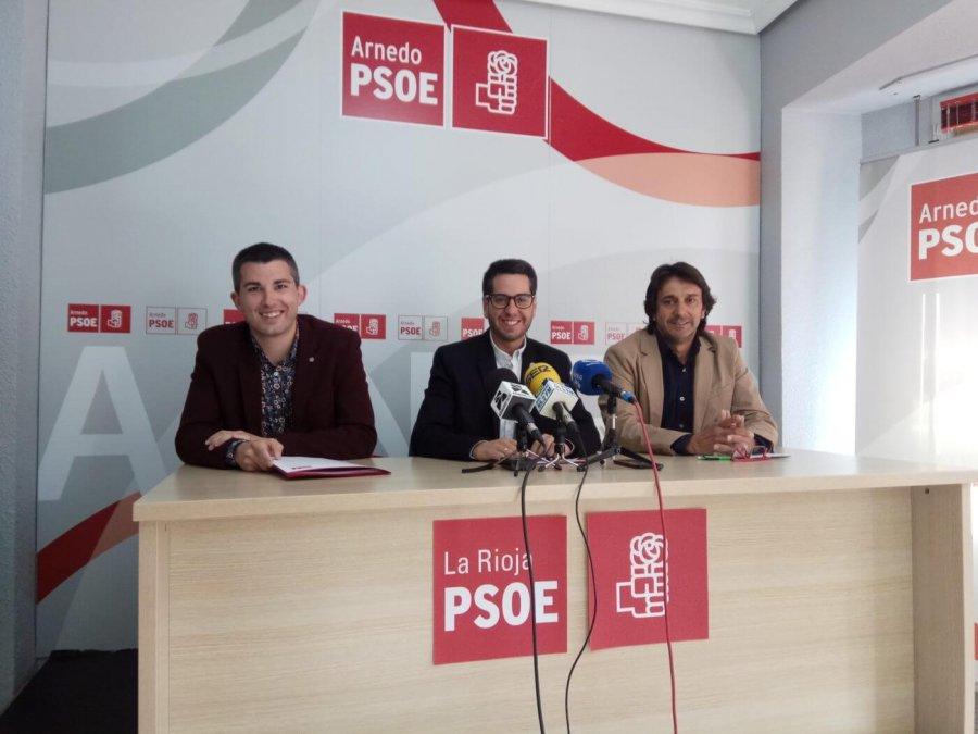 PSOE García, Domínguez y Rubio 16 mayo