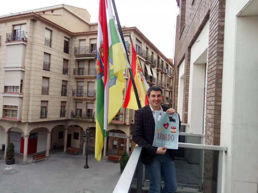 RAUL DOMINGUEZ cartel fiestas marzo