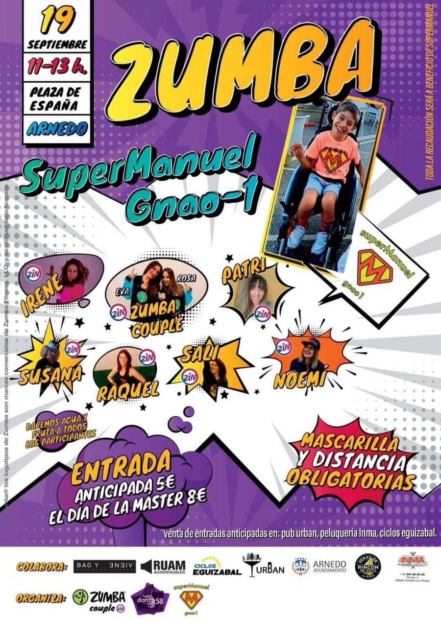 ZUMBA PARA SUPERMANUEL cartel